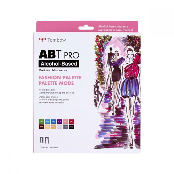 Abt Pro Alcohol Based Art Markers Fashion Palette 12 Pack