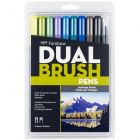 Dual Brush Pen Art Markers, Landscape, 10-Pack