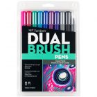 Dual Brush Pen Art Markers, Galaxy, 10-Pack