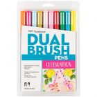 Dual Brush Pen Art Markers, Celebration, 10-Pack