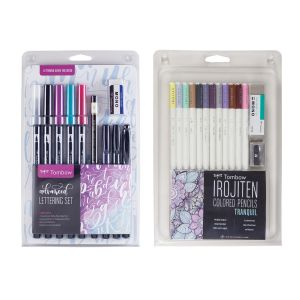 Irojiten Colored Pencils + Advanced Lettering Set Bundle