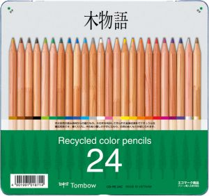 Recycled Colored Pencils, 24pk Tin