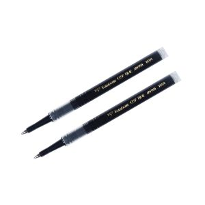 Rollerball Pen Refill, .5mm, 2-Pack, Black