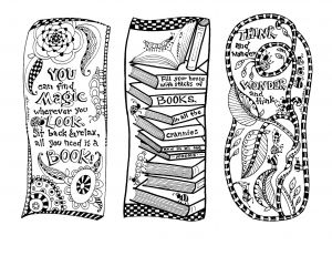 Dr. Suess Printable Coloring Bookmarks