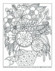 1. Floral Printable Coloring Worksheet by Smitha Katti