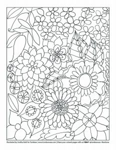 2. Floral Printable Coloring Sheet by Smitha Katti