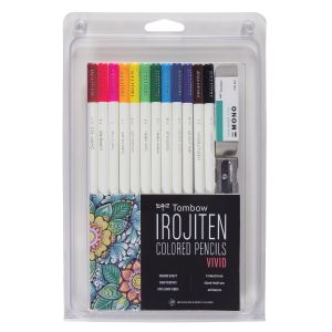 Irojiten Colored Pencil Set, Vivid