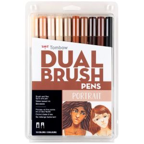 Dual Brush Pen Art Markers, Portrait, 10-Pack