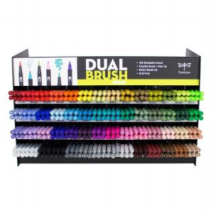 Dual Brush Pen 336PC Display, 54 Colors