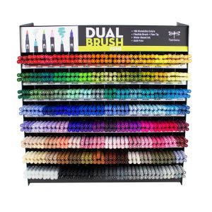 Dual Brush Pen 672PC Display, 108 Colors