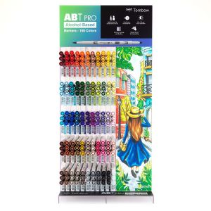 ABT PRO Alcohol-Based Marker Display, 165PC, 54 Colors