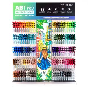ABT PRO Alcohol-Based Marker Display, 330PC, 108 Colors