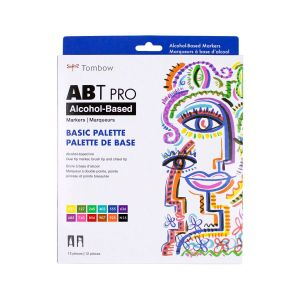 ABT PRO Alcohol-Based Art Markers, Basic Palette, 12-Pack