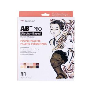 ABT PRO Alcohol-Based Art Markers, People Palette, 12-Pack