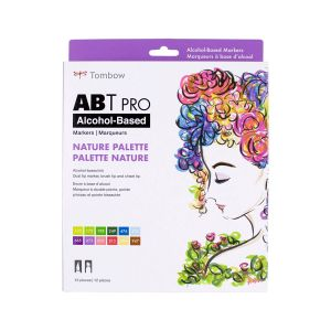 ABT PRO Alcohol-Based Art Markers, Nature Palette, 12-Pack