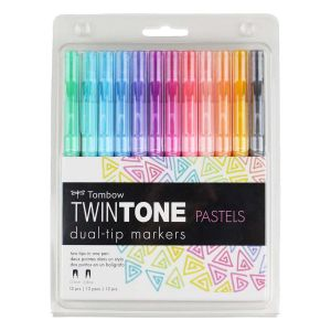 TwinTone Marker Set, 12-Pack Pastel