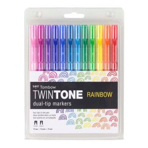 TwinTone Marker Set, 12-Pack Rainbow