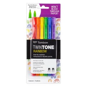 TwinTone Marker Set, 6-Pack Rainbow
