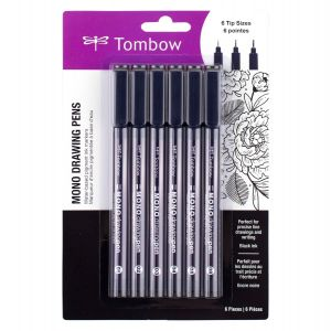 MONO Drawing Pen, 6-Pack