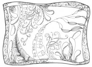 Undersea Garden Printable Coloring Worksheet by Marie Browning