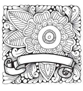 2. Flower Banner Printable Coloring Worksheet by Marie Browning