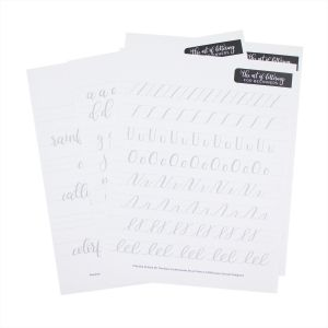 Fudenosuke Lettering Practice Worksheets by Dawn Nicole for Tombow