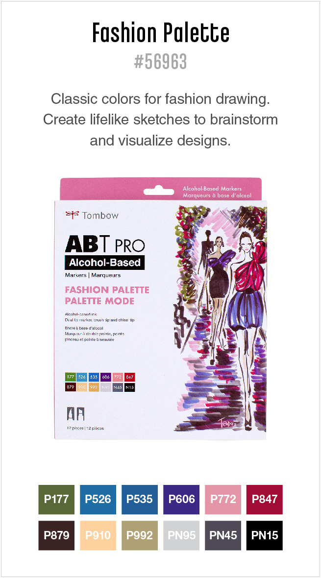 12pk fashion ABT PRO markers