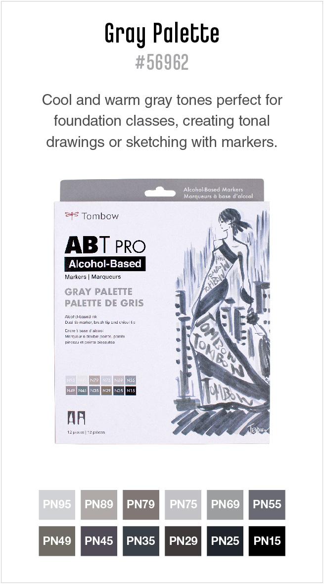 12pk Gray ABT PRO markers