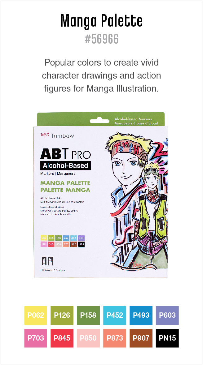12pk manga ABT PRO markers