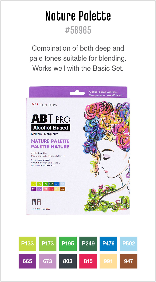 12pk nature ABT PRO markers