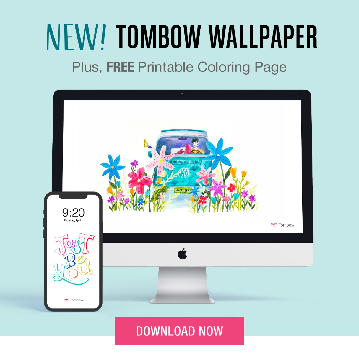 New Wallpapers for your desktop and phone! Plus, free coloring worksheet. Download Now!