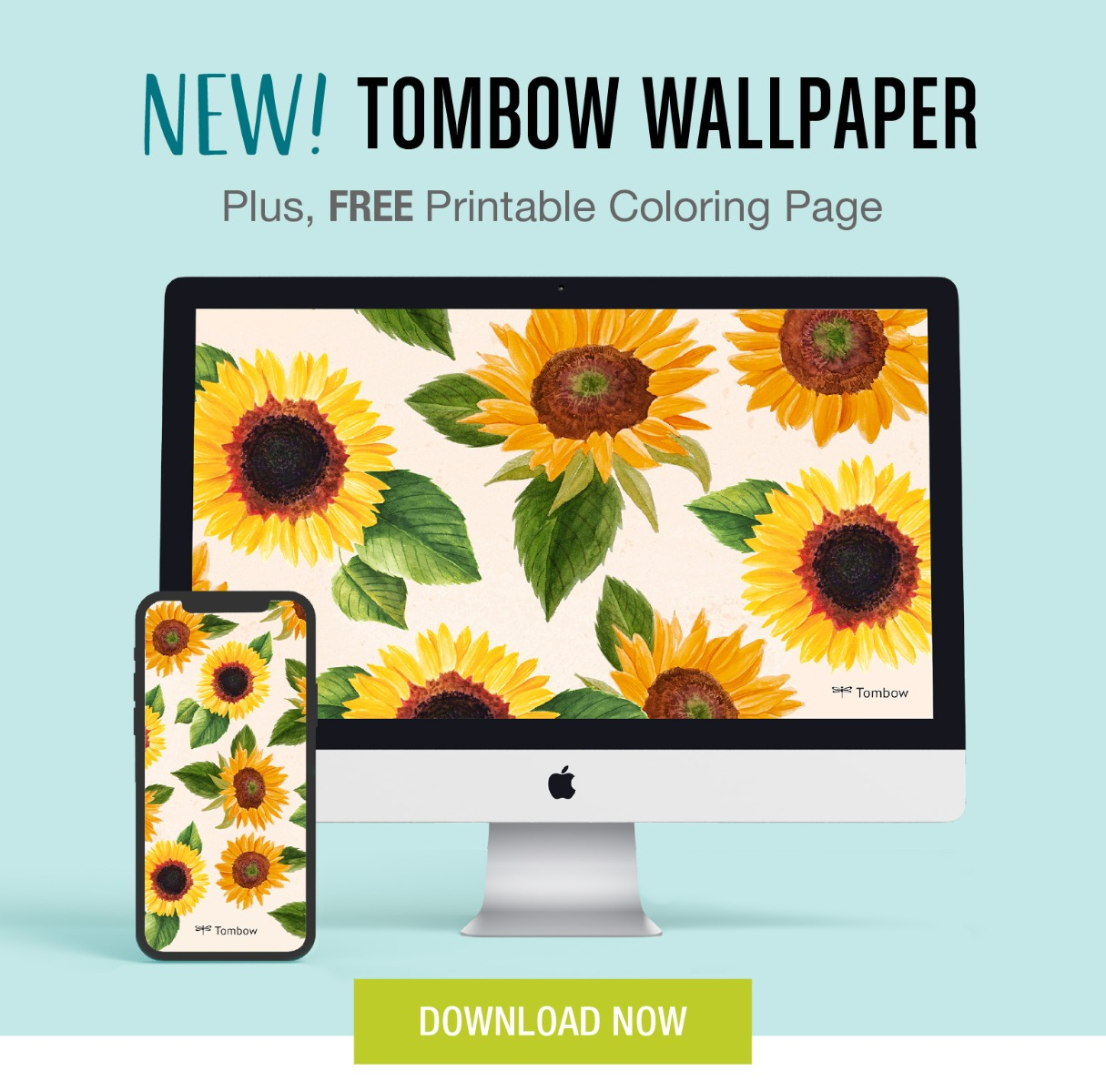 NEW! Tombow Wallpaper. Plus, FREE Printable Coloring Page